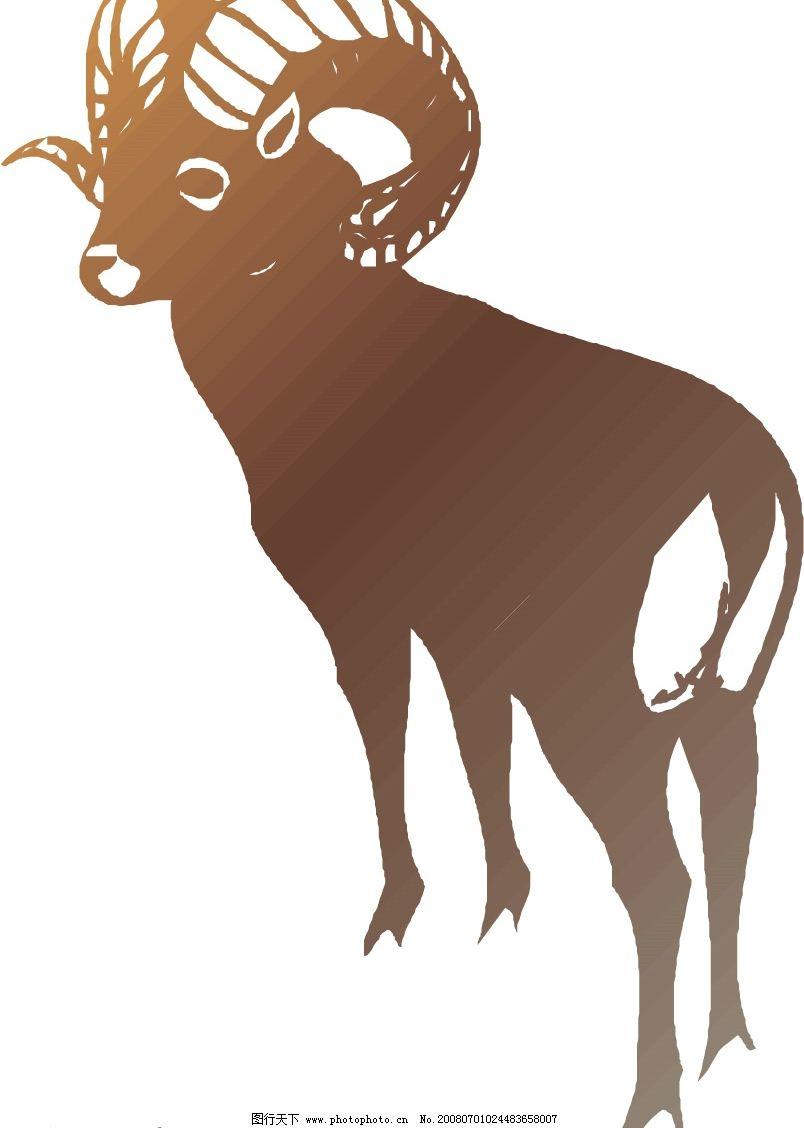 矢量羊 动物 野生动物 家禽 羊 山羊 棉羊 生物世界 矢量图库   ai