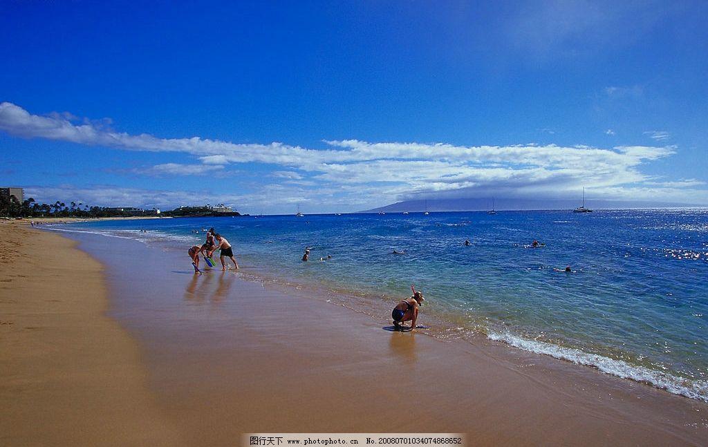 海边沙滩 金沙滩 碧海 蓝天 金沙 旅游摄影 国外旅游 高清晰海边沙滩
