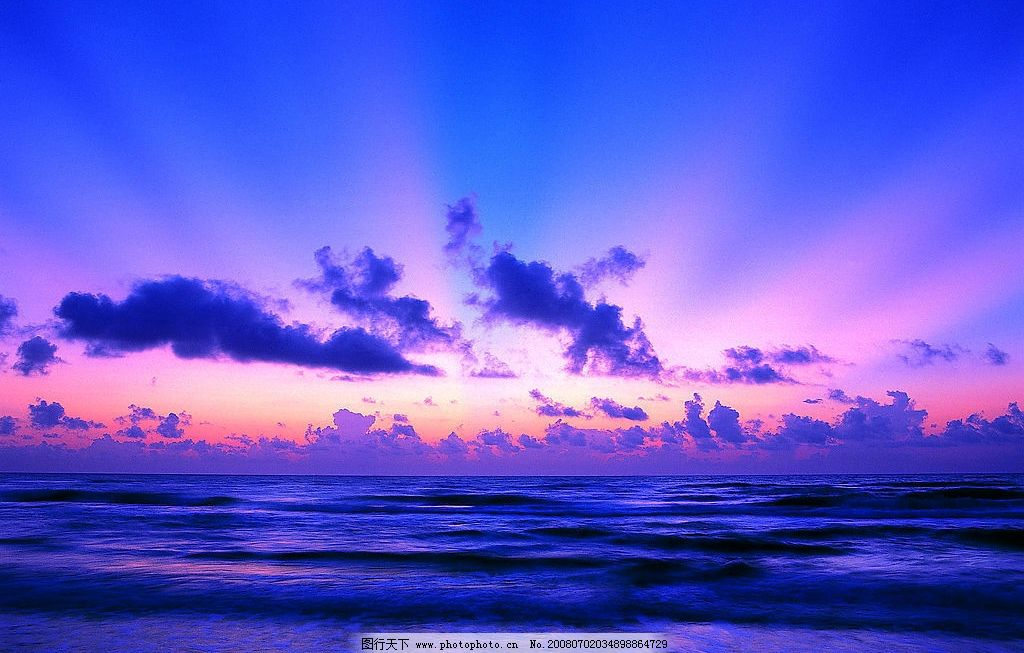 海边清晨日出图片