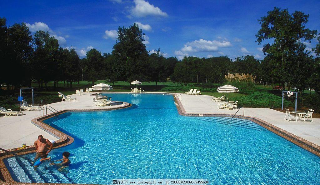 游泳池 别墅 园林 豪华