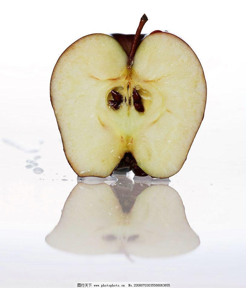 切开的苹果图片图片