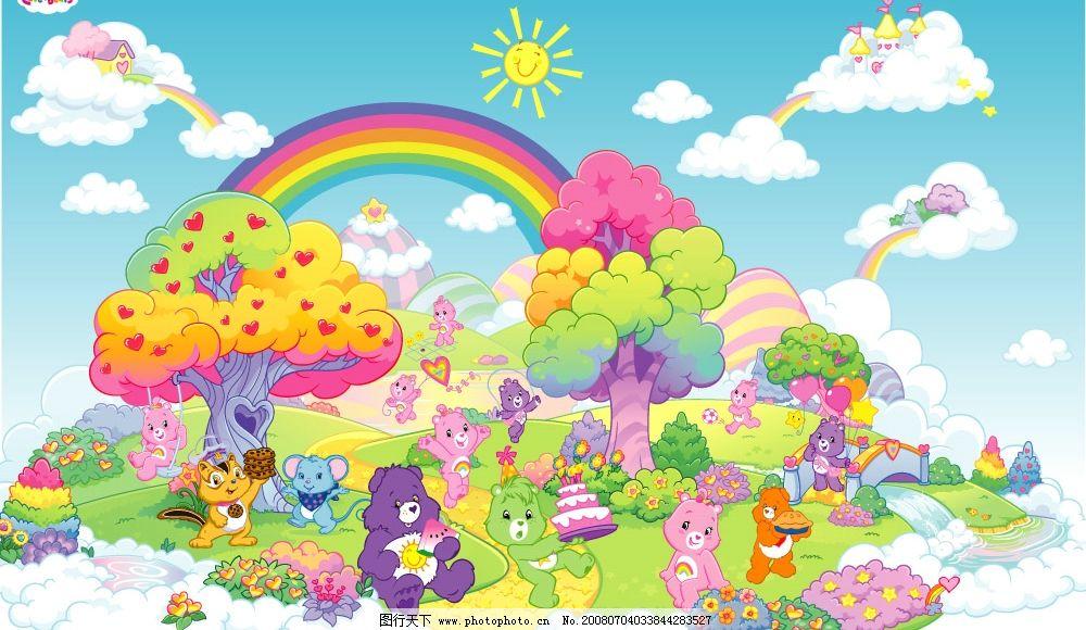 超可爱熊宝宝家族大聚会图片