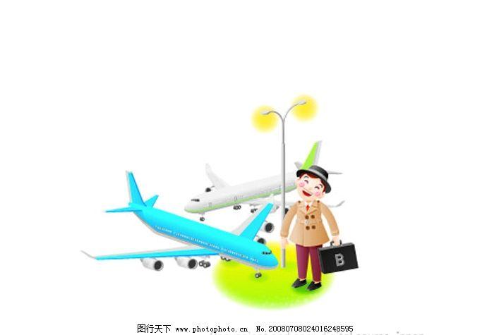 飞机梦想 小孩做大人 矢量人物 儿童幼儿 儿童 矢量图库   ai