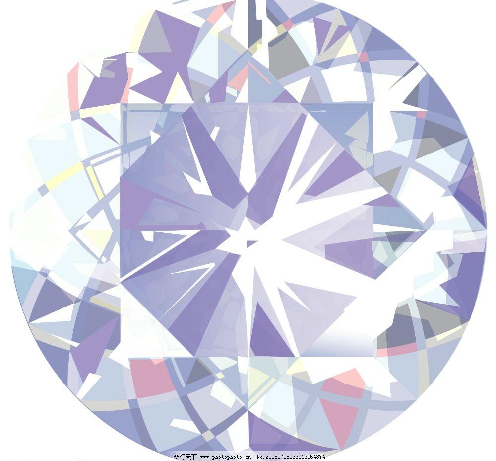 手绘闪亮钻石图片
