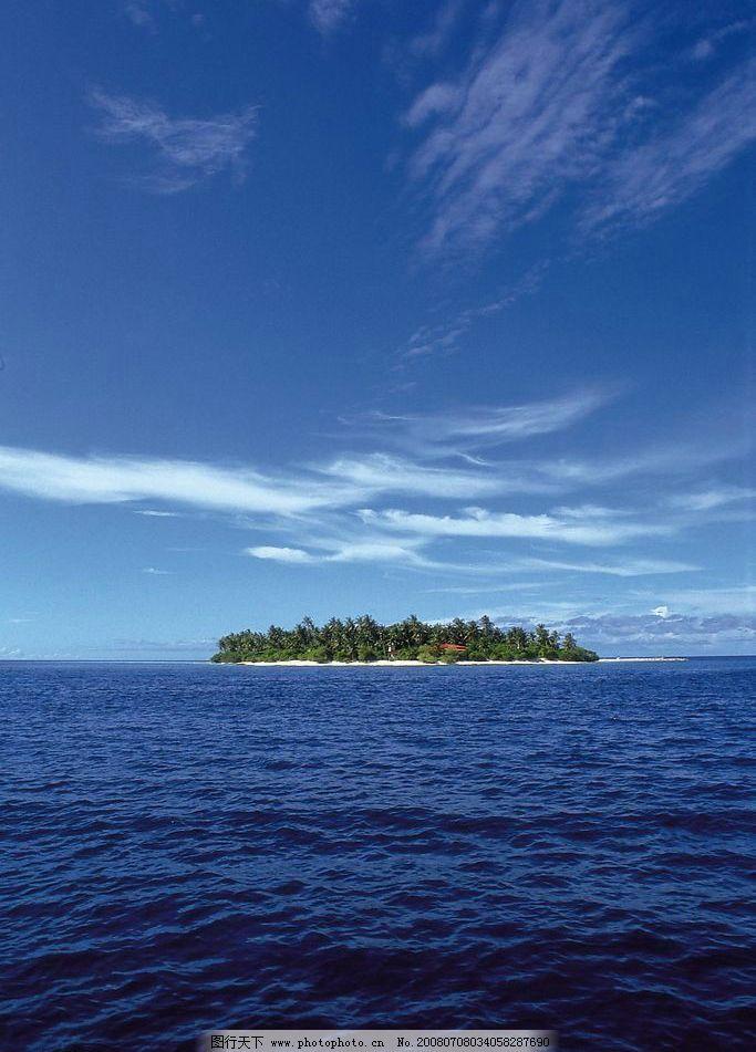 关岛远景 关岛 远景 蓝天 白云 大海 深蓝 海水 摄影图库 350dpi 旅游