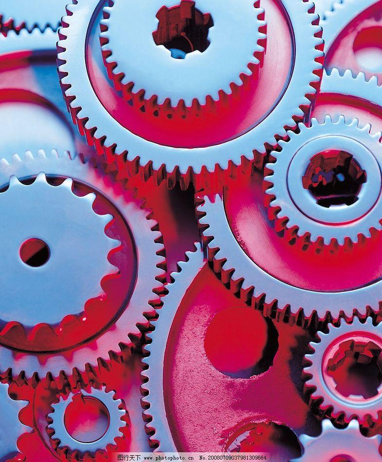 齿轮 机器零件 现代科技 工业生产 摄影图库 350 jpg