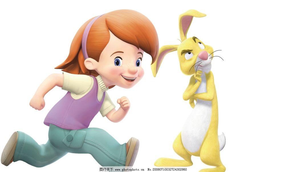 迪斯尼 女孩 兔子 公主 卡通 动画 人物 其他人物 psd分层 psd分层