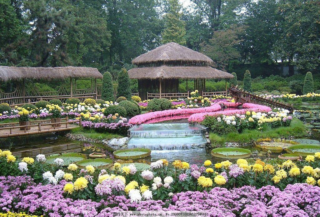 拙政园花卉展 园林 自然景观 风景名胜 苏州园林 摄影图库 72 jpg
