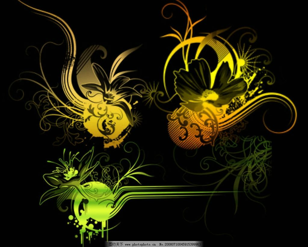 手绘花朵 花朵 可爱 漂亮 ps笔刷 植物笔刷 源文件库 abr