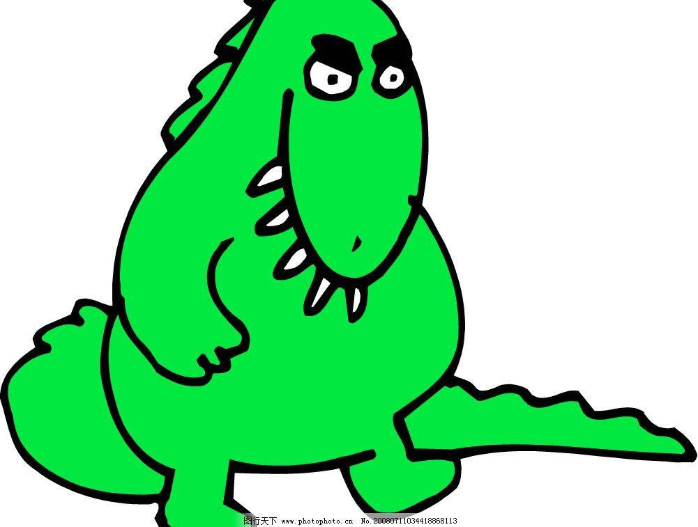 恐龙 小动物 生物世界 其他生物 动物 矢量图库   wmf