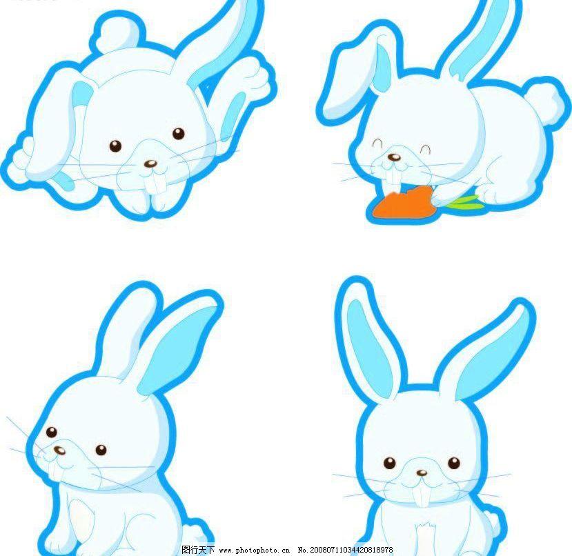 兔子简笔画 风景