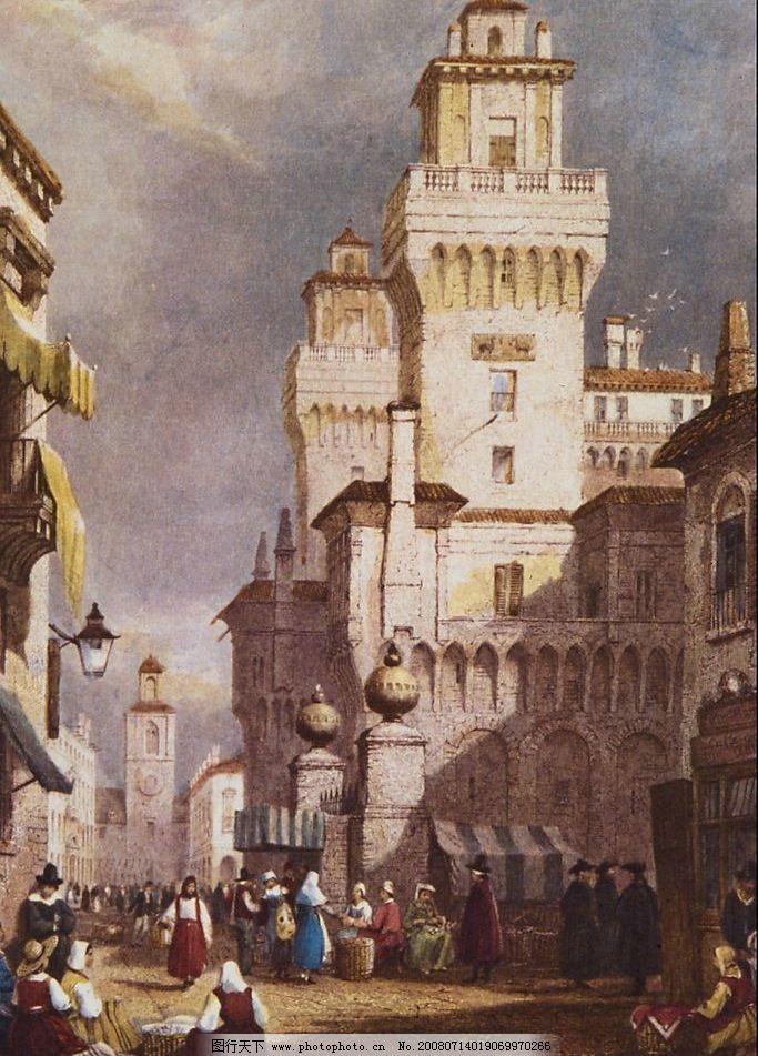 古老的欧式建筑图片