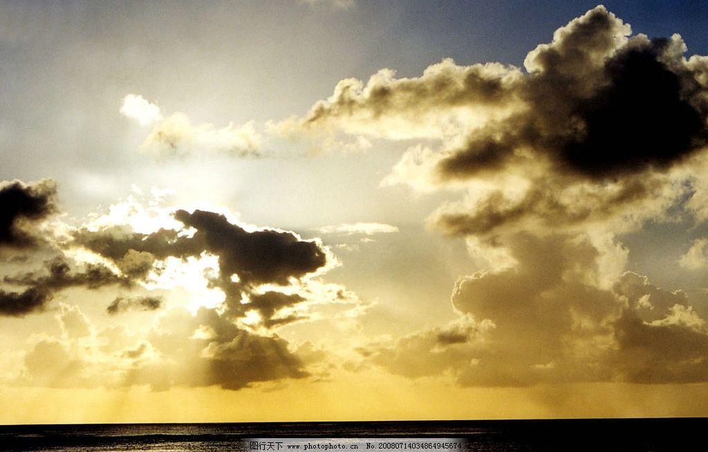 美丽的晚霞 晚霞 自然景观 自然风景 摄影图库 350dpi jpg
