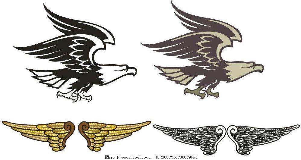 鹰翅膀 鹰 翅膀 其他矢量 矢量素材 矢量图库 cdr
