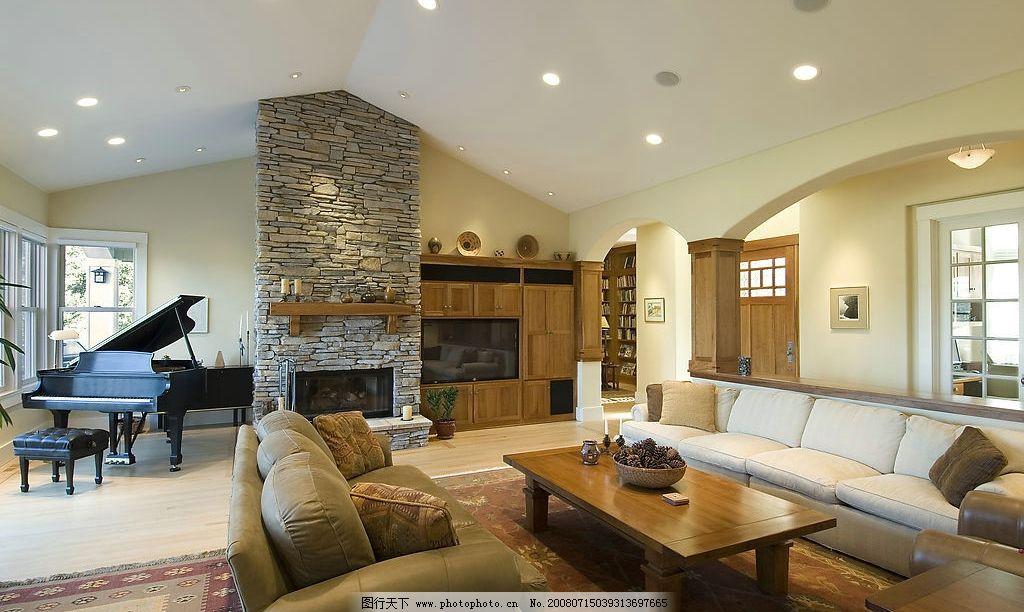 室内一角 补实 简单 装饰 欧式风格 客厅 钢琴 建筑园林 室内摄影