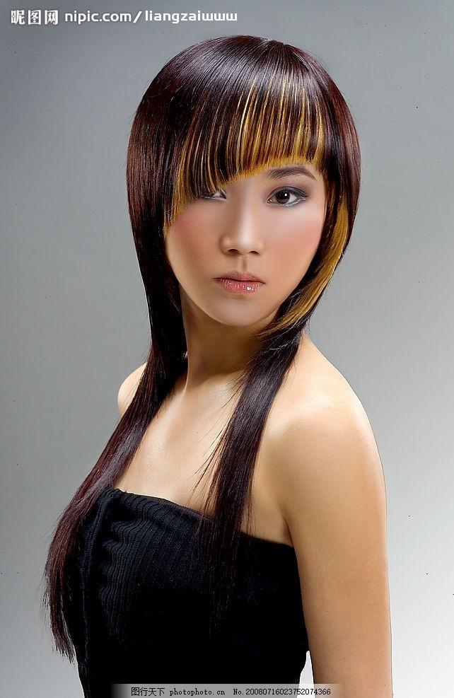 长发侧身 美女 容装 美容美发造型 潮流发型 美发 发型造型 少女 美人