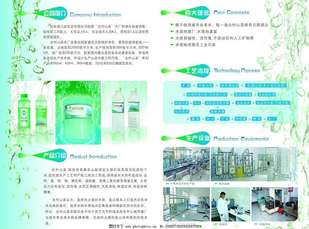 矿泉水宣传内页图片_画册设计