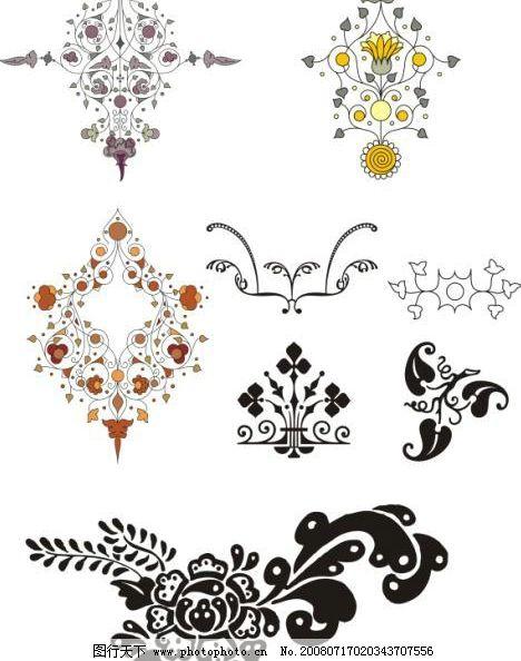 欧洲印花 矢量 印花 花纹 花朵 叶子 图案 栅栏形状 欧洲风格 底纹