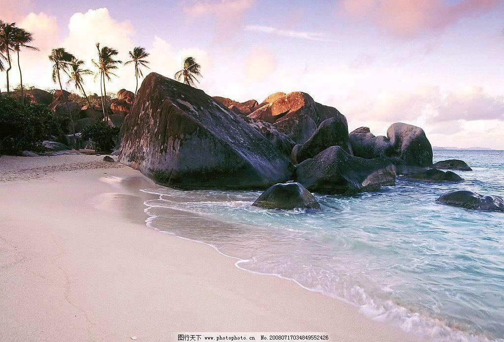 风景壁纸 山水 英属维尔京群岛/礁石图片