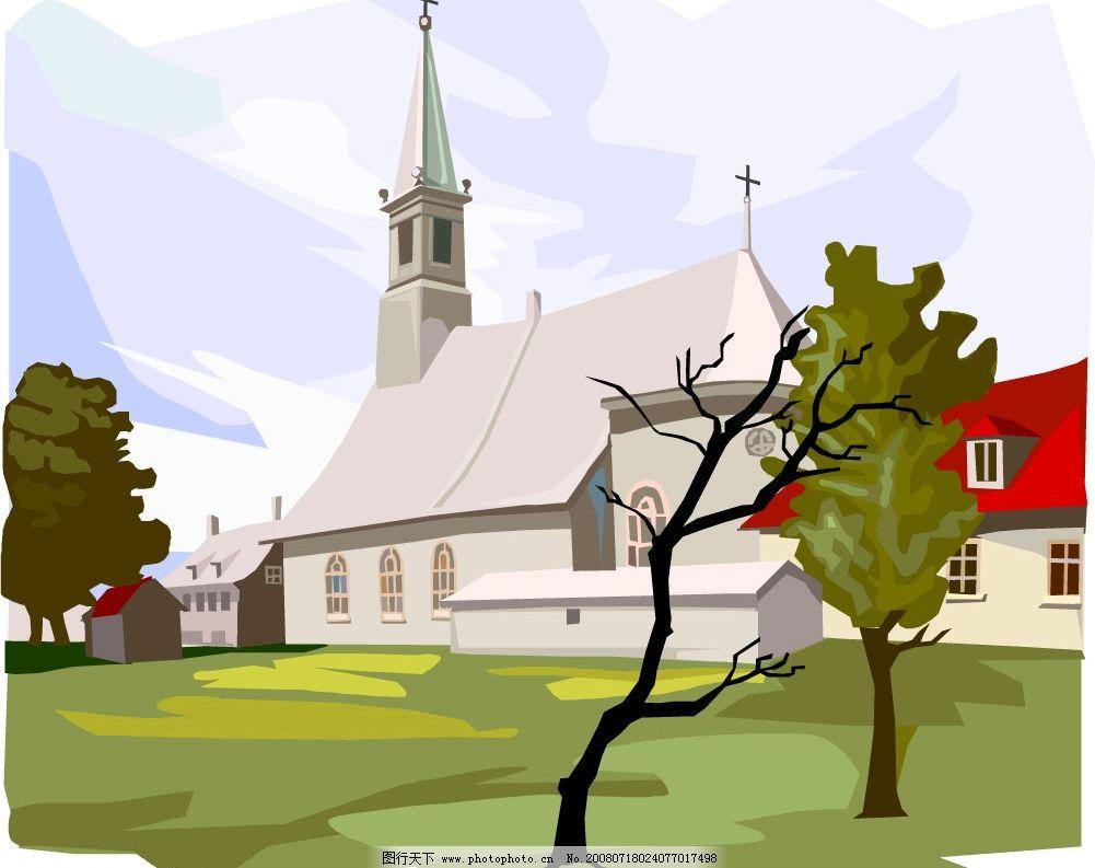 绘画风格欧州风景图片