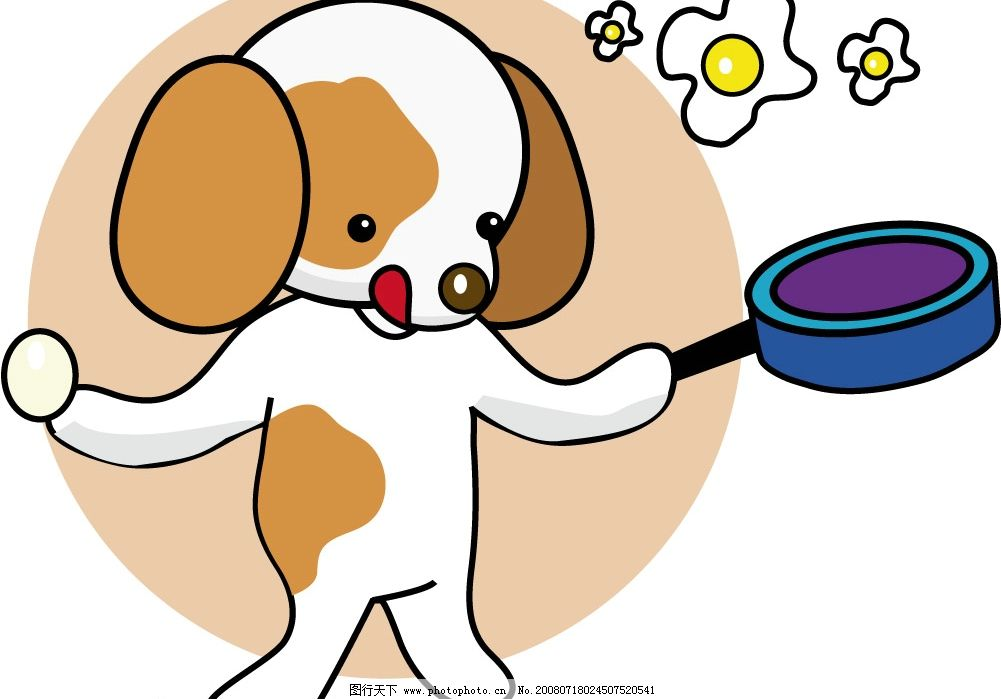 可爱 美丽 简单的小狗