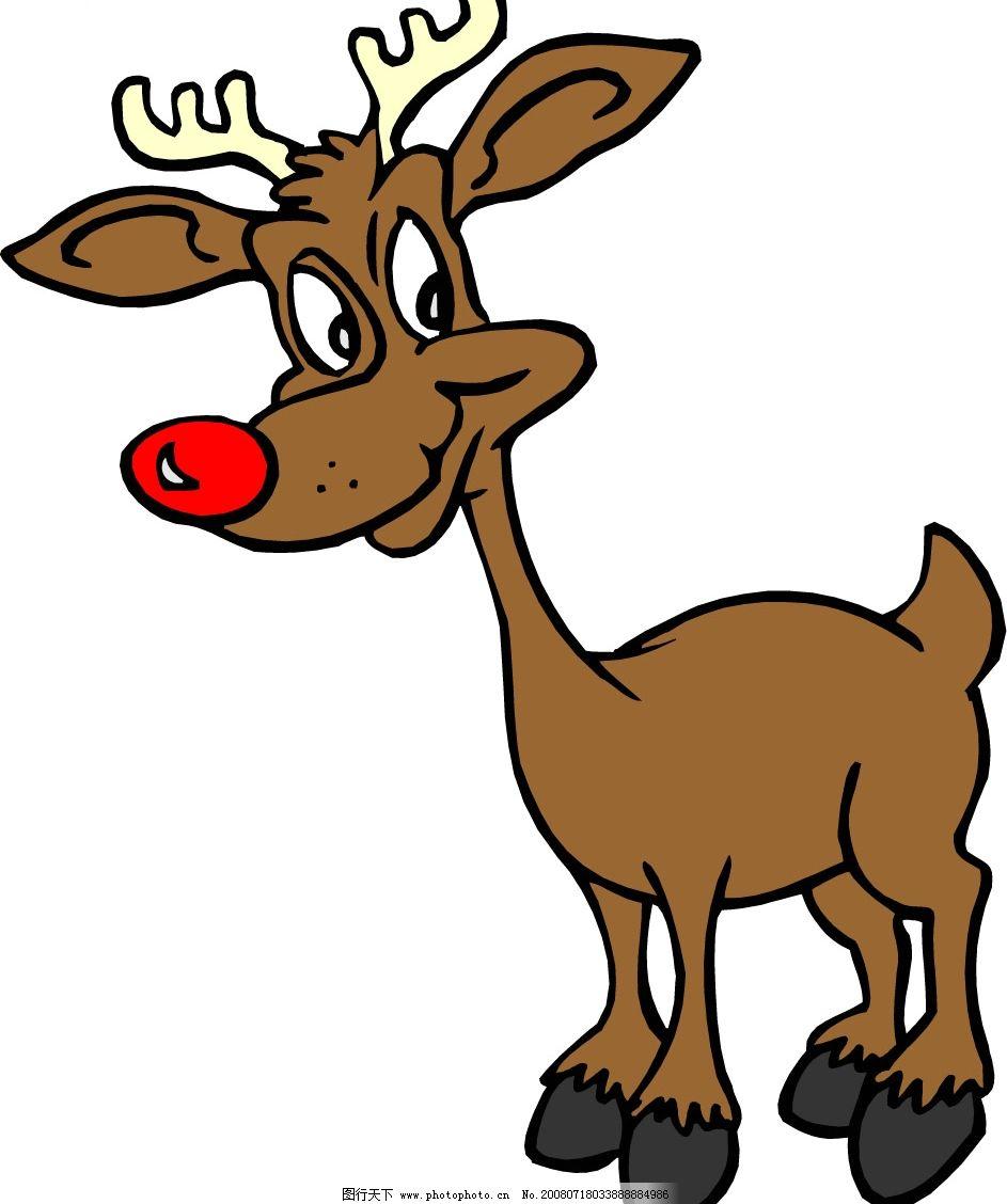 卡通矢量鹿图片