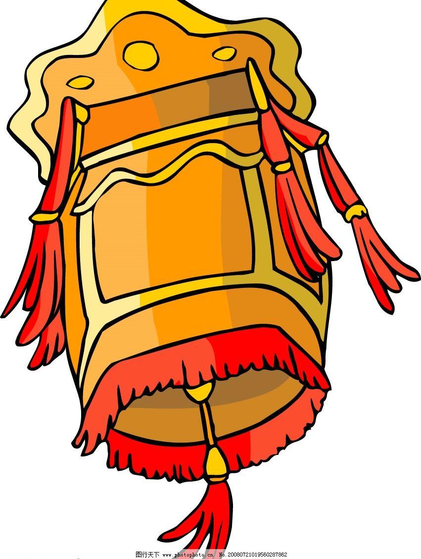 卡通风格中国传统民俗物品灯笼 传统灯笼 节日素材 矢量图库