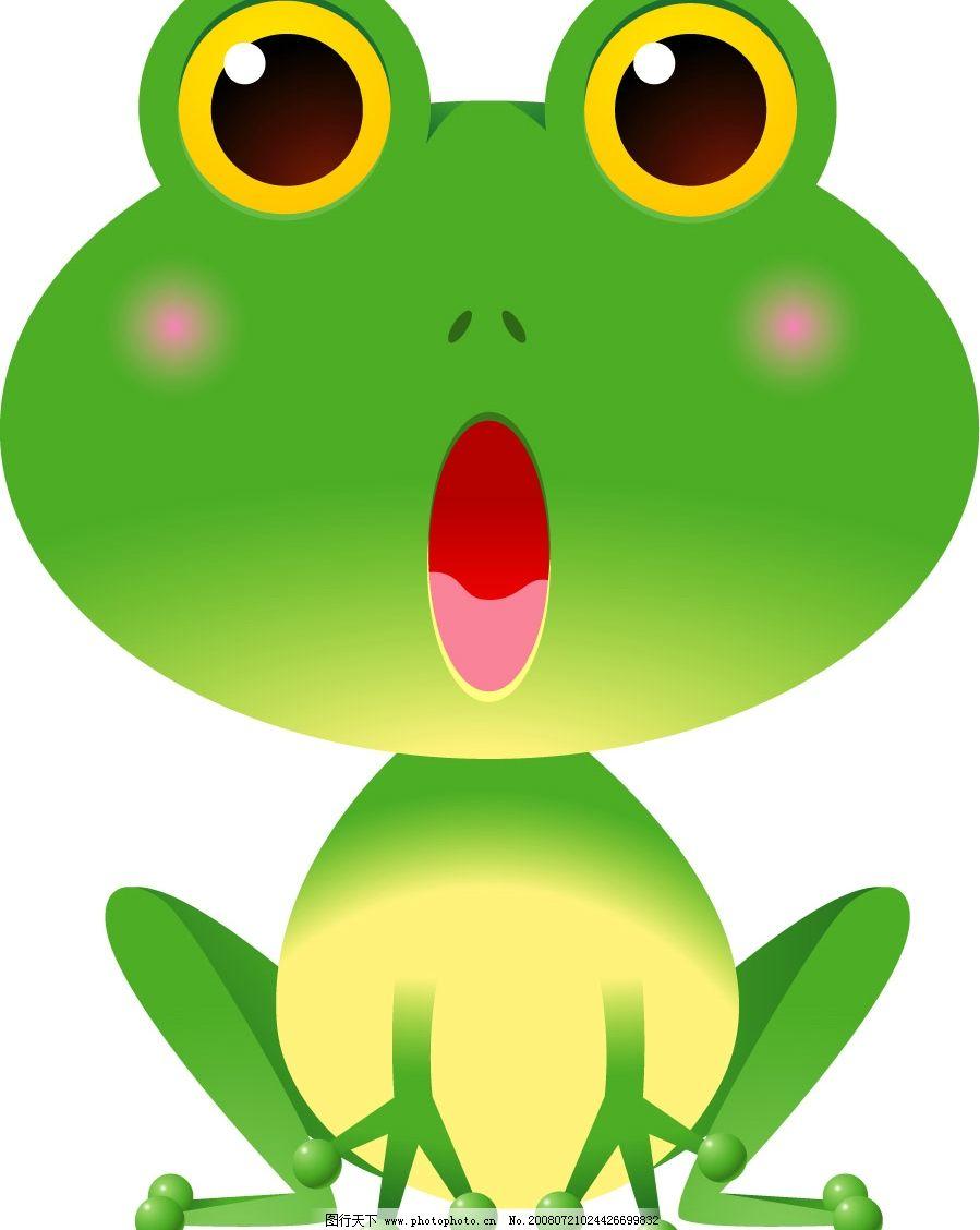 可爱的漫画青蛙 漫画 动画 可爱 卡通 动漫 儿童 卡挖依 插画 生物