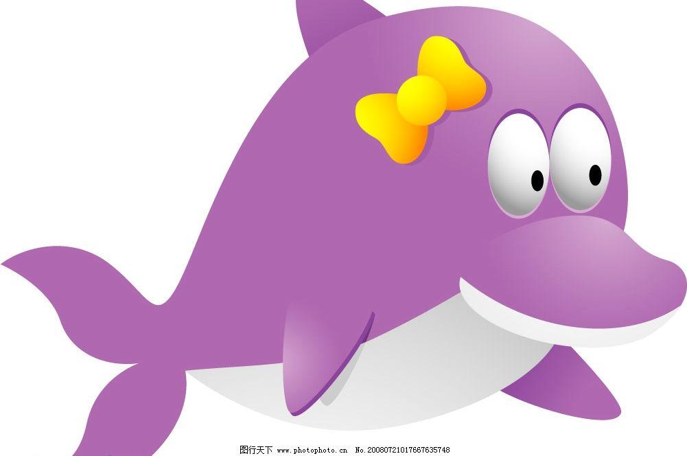 可爱的戴头饰海豚mm图片