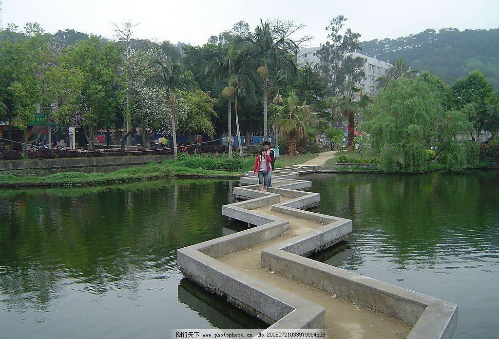 校园里的风景图片