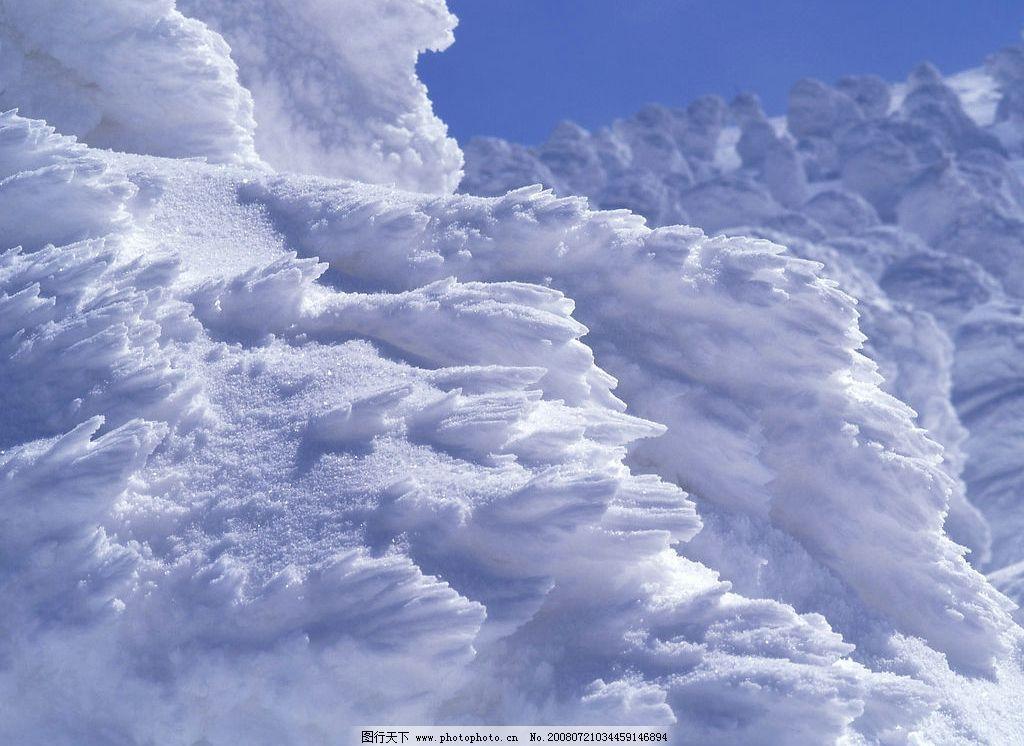 白雪 雪的场景 自然景观 山水风景 摄影图库 350dpi jpg