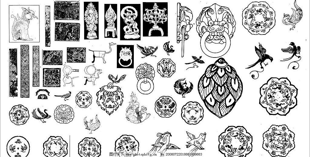 工艺品矢量图 古代雕刻