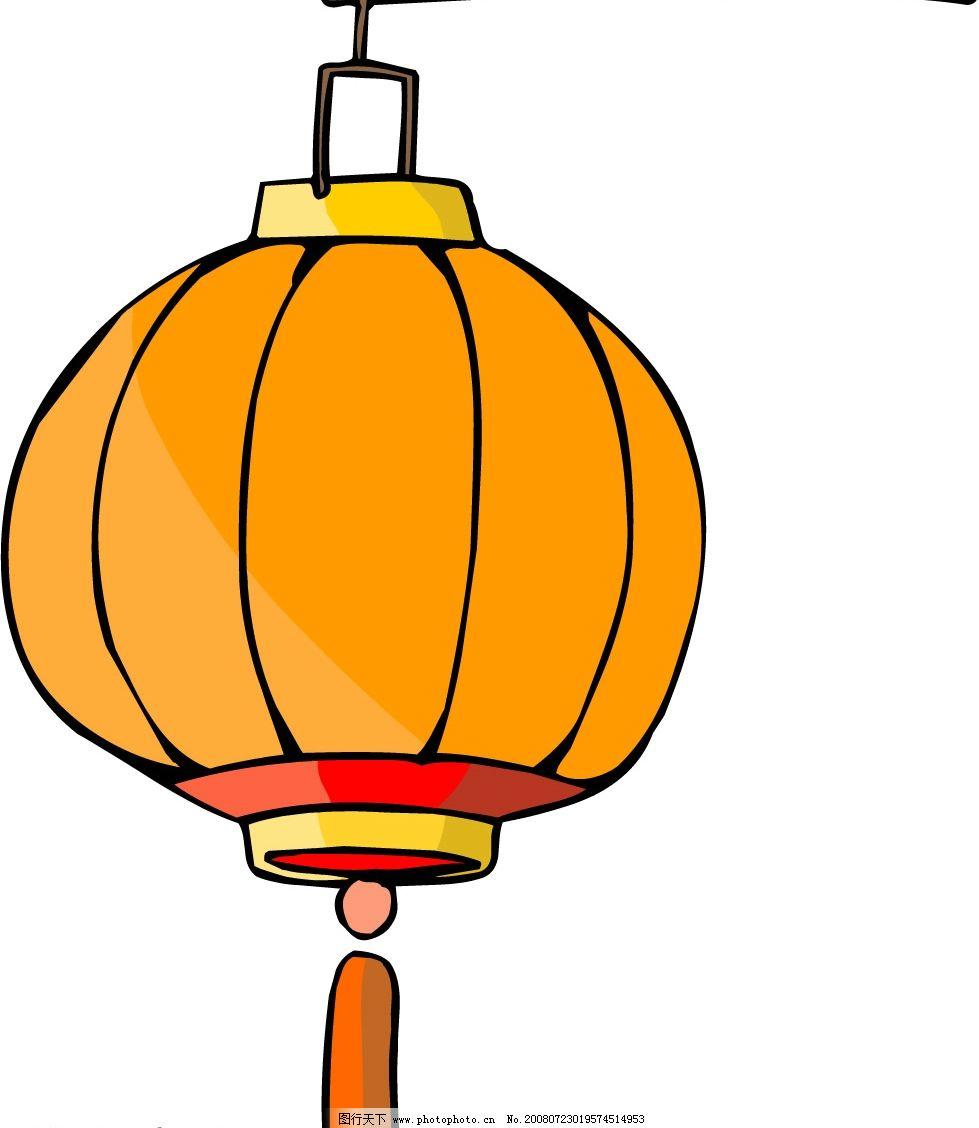 卡通风格中国传统民俗物品灯笼图片