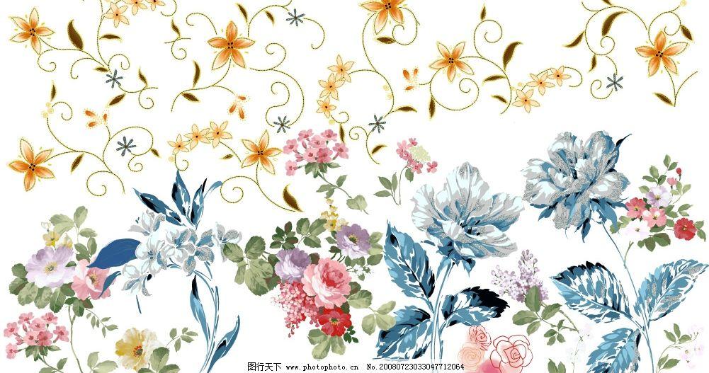花纹花朵图片