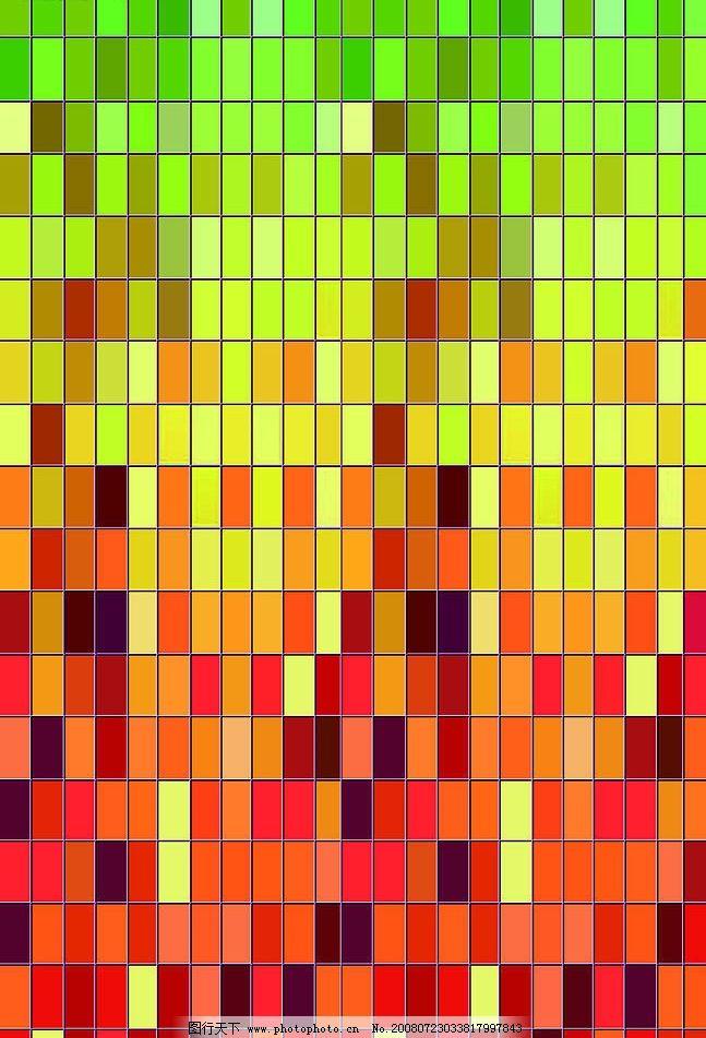 抽象 梦幻 格子 红色色调 绿色色调 彩色 七彩色块 其他 图片素材