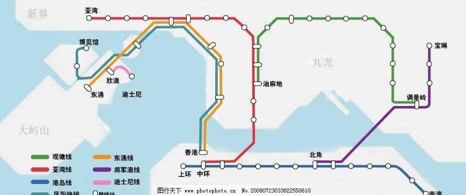 香港地铁线路图 香港 地铁 地铁线路图 其他矢量 矢量素材 矢量图库