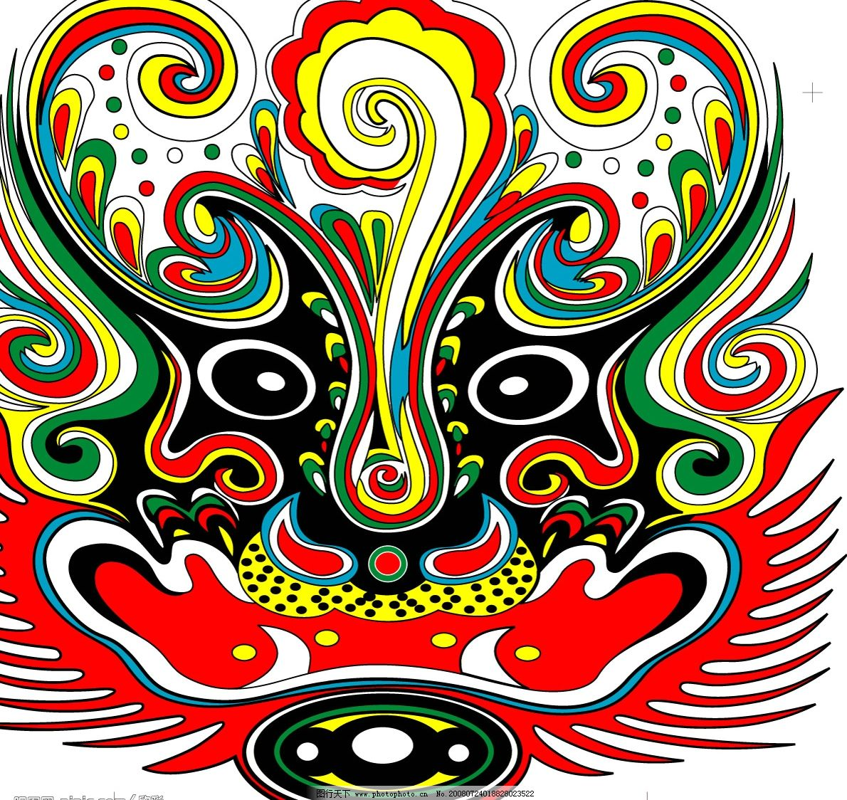 虎头 传统图形 吉祥图 矢量图库