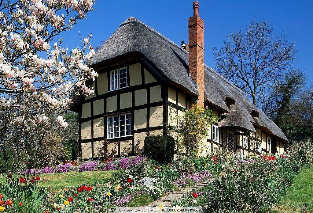 山上漂亮房子图片