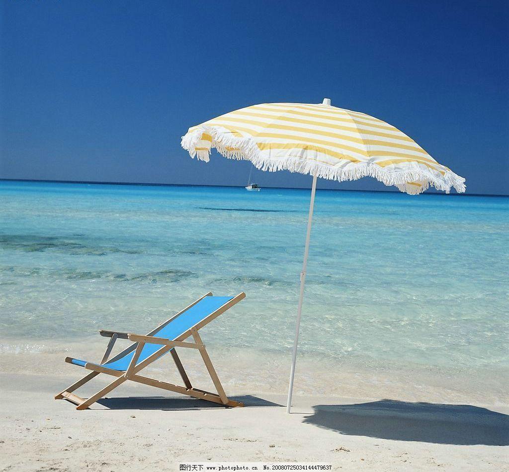 沙滩小憩 沙滩椅 伞海 海边 休闲 旅游 蓝色 旅游摄影 摄影图库