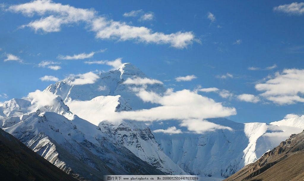 雪山 晨曦雪山 自然景观 山水风景 摄影图库 72dpi jpg
