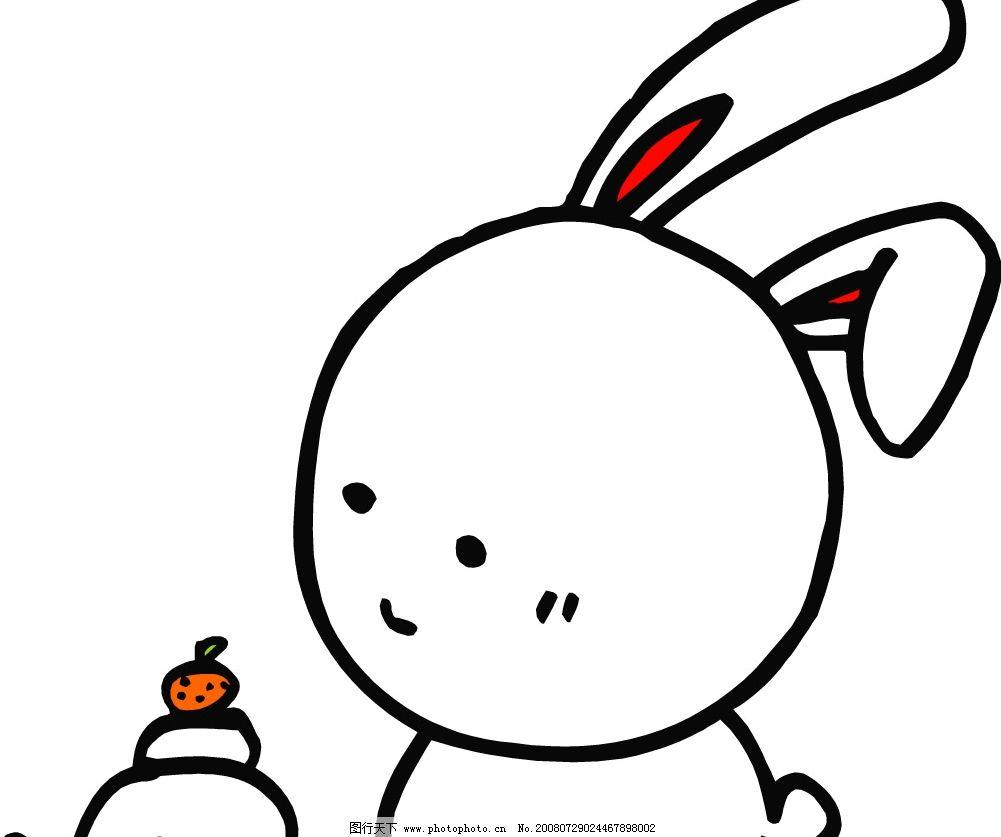 矢量白兔 生物世界 野生动物