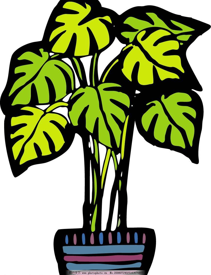 盆景 盆栽 设计 矢量 矢量图 素材 植物 868_1128 竖版 竖屏