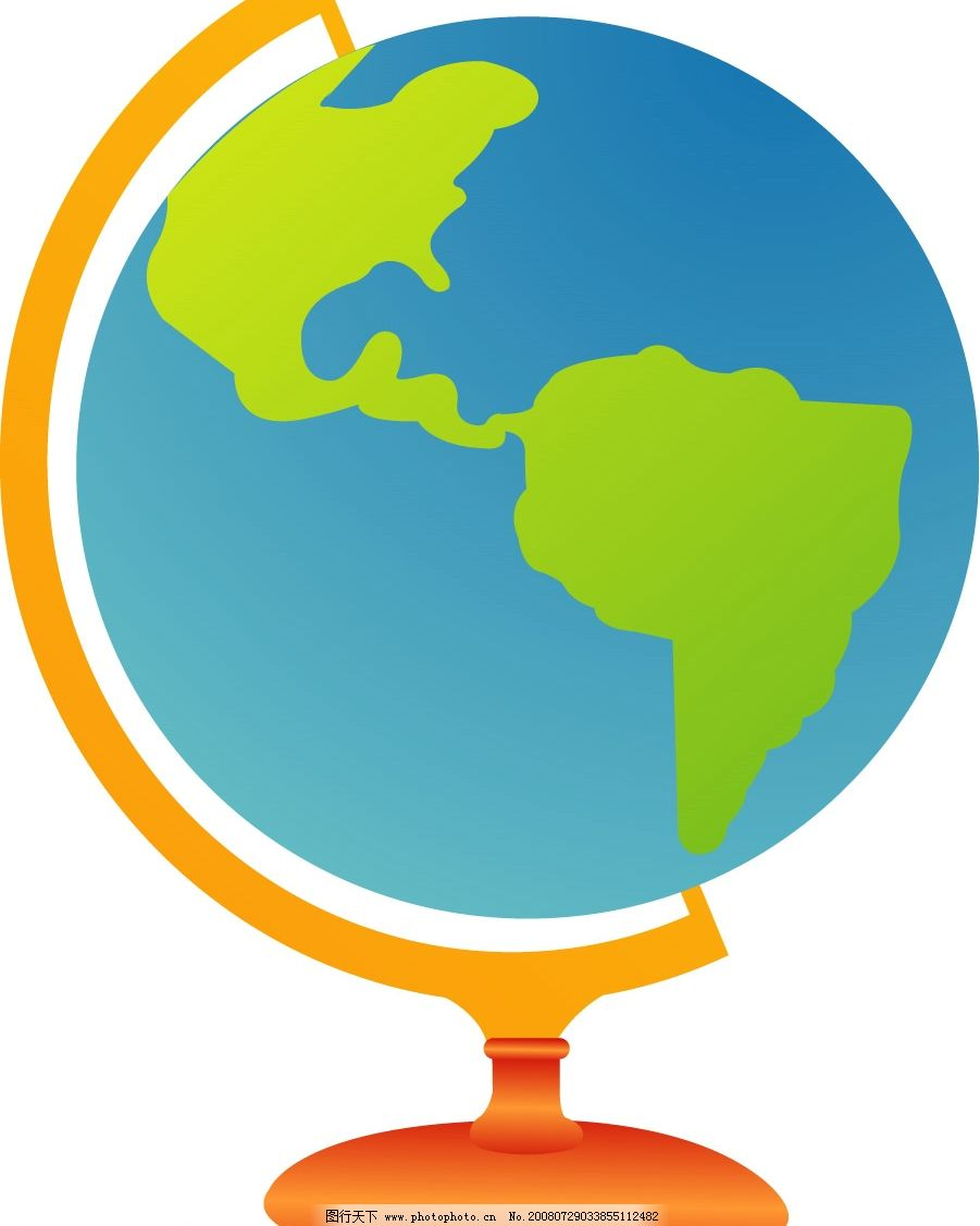 地球仪 地球 卡通地球仪 其他矢量 矢量素材 矢量图库 ai
