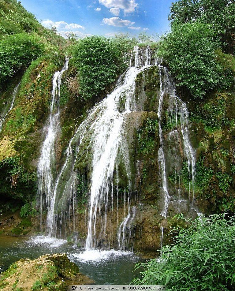 贵州 贵阳 天河潭 瀑布 自然景观 山水风景 摄影图库 180dpi jpg