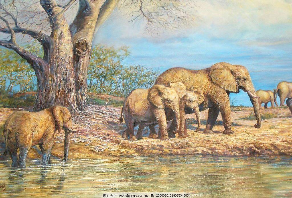 绘画书法 动物油画