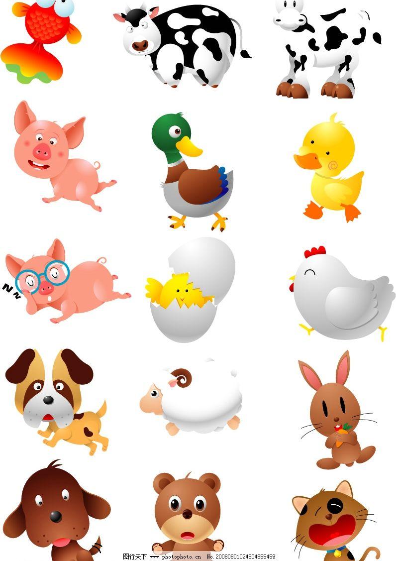 可爱家养小动物图片_家禽家畜