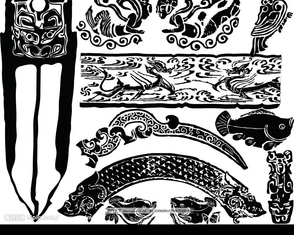 纹饰 花纹 中华图片 线条 动物纹样 传统元素 吉祥图案 古典花纹 圆形