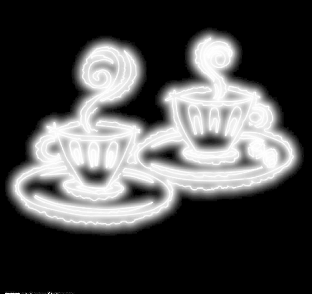 发光杯子 背景素材 霓虹灯效果 源文件库 发光杯子素材下载 发光杯子