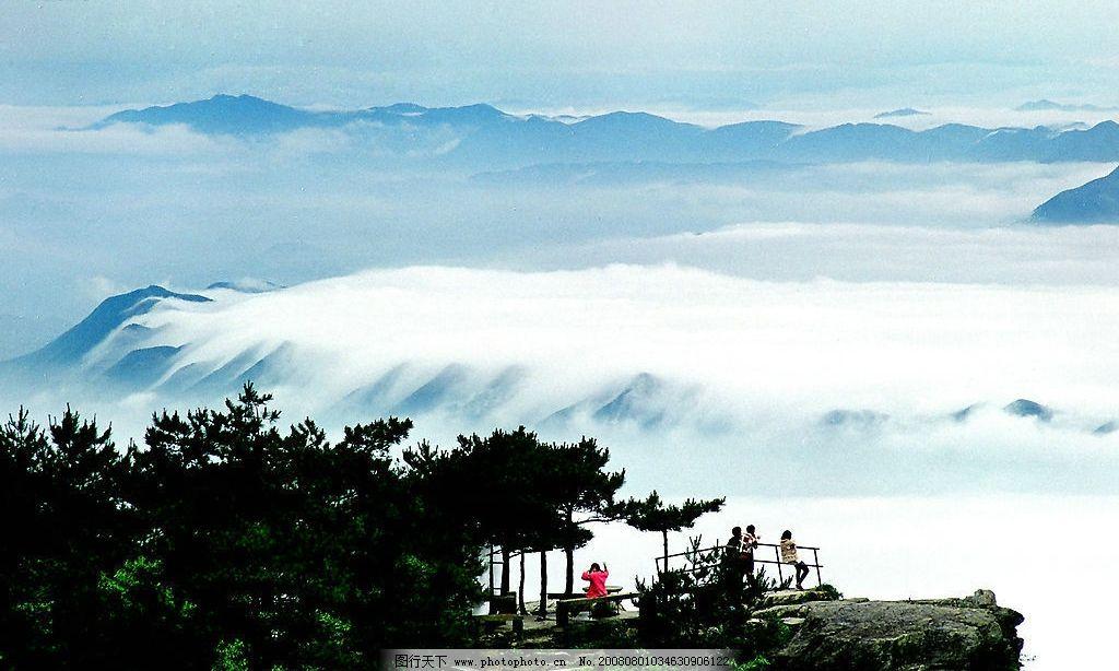 庐山绵绣谷 江西 庐山风光 云海 树 锦绣河山 自然美景 自然景观 风景