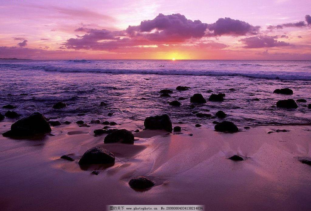 夏威夷风光精美壁纸 朝阳 日出 大海日出 旅游摄影 自然风景 摄影图库